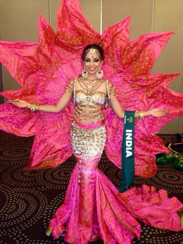 Indian modern dress - National Costume Of Indian Delegates For The Year 2013 The Great