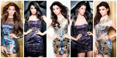 Tiara students Sanjana, Deepti, Sonal, Aditi and Malati are competing for Miss India this year.