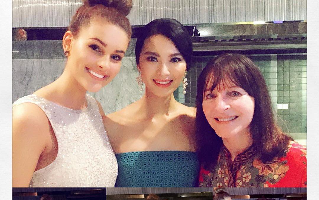 Birthday Girl Yu WenXia with Rolene Strauss & Julia Morley