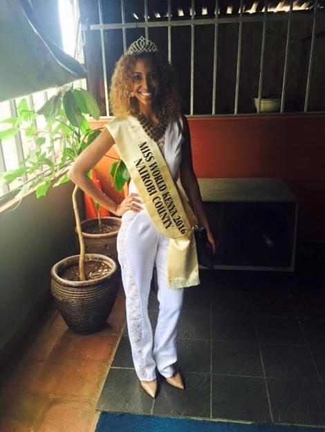 Roshanara Ebrahim crowned Miss World Kenya 2016