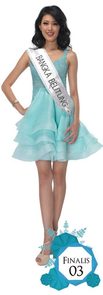 03. BANGKA BELITUNG - Natasha Manuella is representing at Miss Indonesia 2016