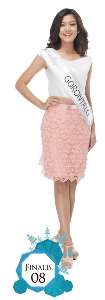 Agnes Amelia  is representing  GORONTALO at Miss Indonesia 2016
