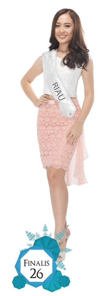 Mentari Sibero is representing RIAU at Miss Indonesia 2016