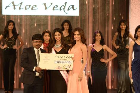 Sushruthi Krishna won Aloe Veda Miss Eco Quotient- at Femina Miss India 2016 Sub COntest