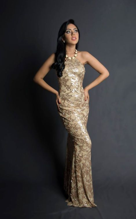 Cecilia Drouet during Miss Ecuador 2016 Evening Gown Portraits
