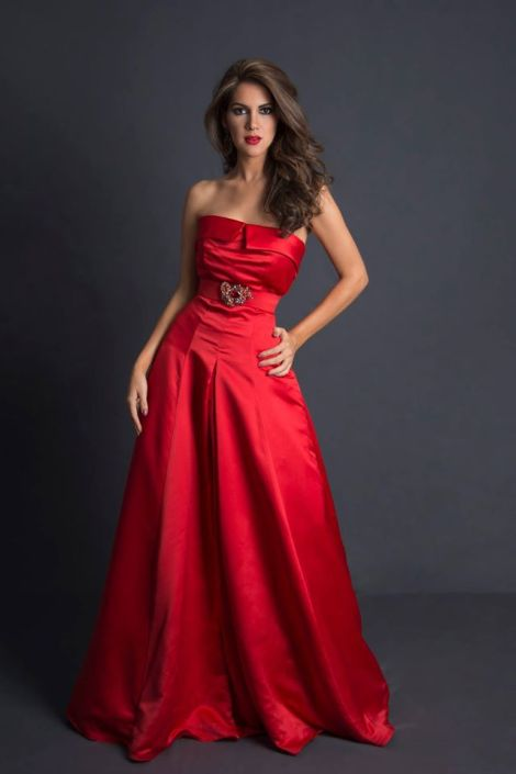 Ivanna Abad during Miss Ecuador 2016 Evening Gown Portraits