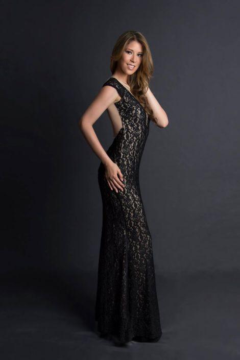 Laura Arizala during Miss Ecuador 2016 Evening Gown Portraits