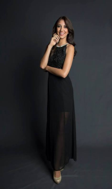 María Fernanda Manzano during Miss Ecuador 2016 Evening Gown Portraits