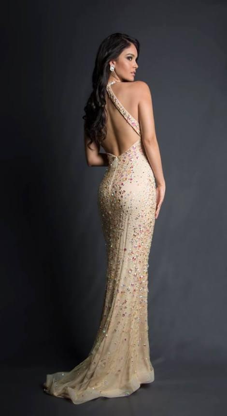 María Isabel Piñeyro during Miss Ecuador 2016 Evening Gown Portraits