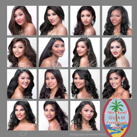 Miss Earth Guam 2016 Contestants.