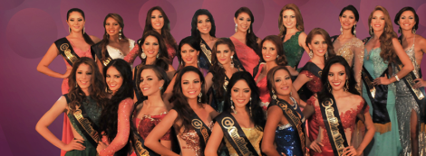 Miss Ecuador 2016 Contestants during Miss Ecuador 2016 Evening Gown Portraits
