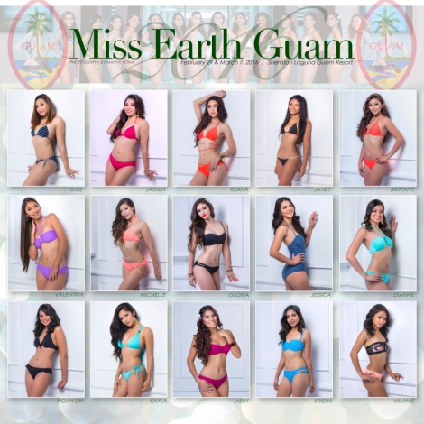 Miss Guam Earth 2016 contestants in swimsuits