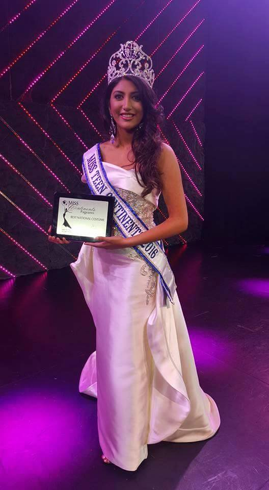 Anjali Sinha who represented United Kingdom won Miss Teen Continents 2016