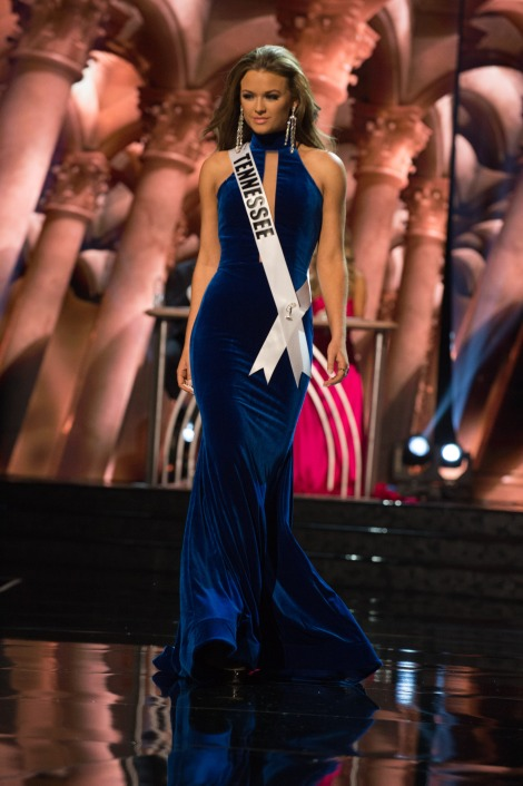 Hope Stephens, Miss Tennessee USA is one of the best in Best and the worst Evening Gowns at Miss USA 2016 Preliminary show