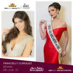 Francielly Ouriques is representing ENCANTOS DO SUL - SC at Miss Mundo Brasil 2016