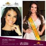 Muriel Prestes is representing MISSÕES - RS at Miss Mundo Brasil 2016