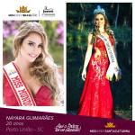Nayara Guimaraes is representing SANTA CATARINA at Miss Mundo Brasil 2016