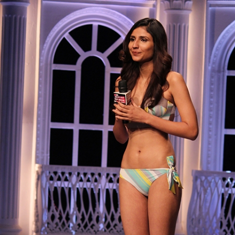 Ana Chawdhary in India's Next Top Model Season 2 Bikini Pictures