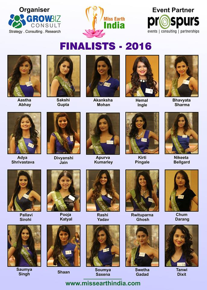 Miss Earth India 2016 Contestants