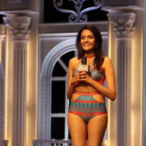 Minash Ravuthar in India's Next Top Model Season 2 Bikini Pictures
