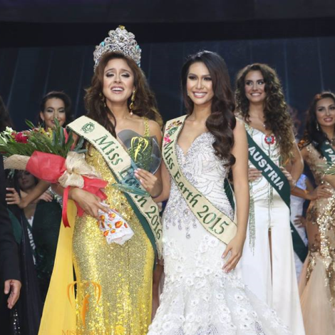 Angelia Ong & Katherine Espin Miss Earth winners