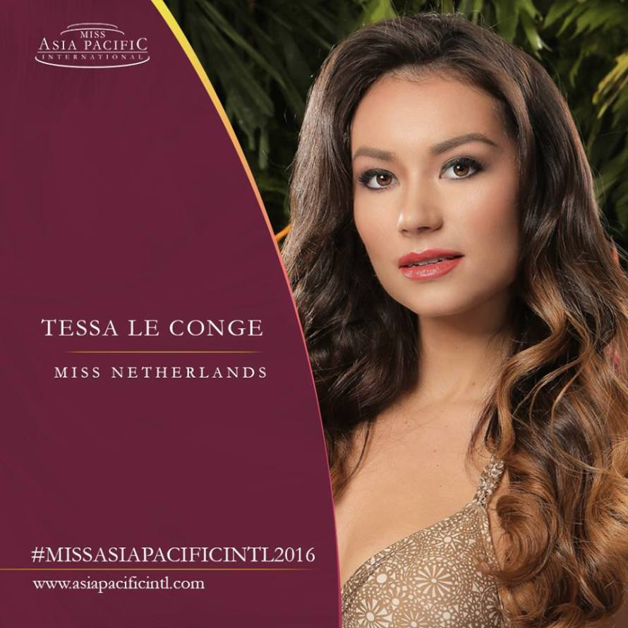 Tessa Le Conge from Netherlands wins Miss Asia Pacific International 2016