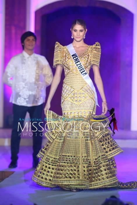 Miss Venezuela-Mariam Habach during terno fashion show