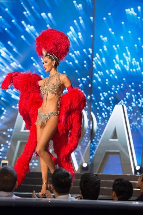 Miss France ,Iris Mittenaere during Miss Universe 2016 National Costume presentation