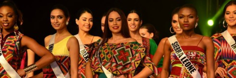 Miss Universe 2016 Contestants during Mindanao Tapestry Show