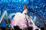 Miss Paraguay,Andrea Melgarejo, during Miss Universe 2016 National Costume presentation