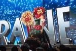 Miss Ukraine,Alena Spodynyuk during Miss Universe 2016 National Costume presentation