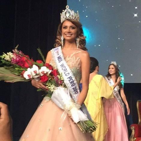 Cynthia Pamela Sanchez is Miss World Peru 2017