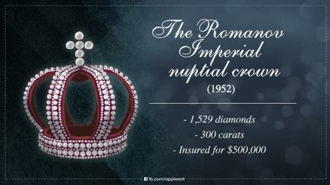 The Romanov Imperial nuptial crown