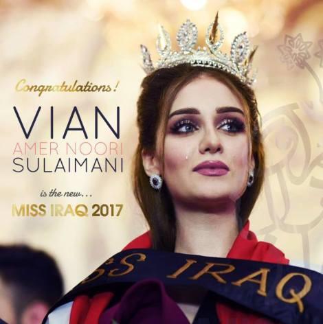 Vian Amer Noori Sulaimani is Miss Iraq 2017