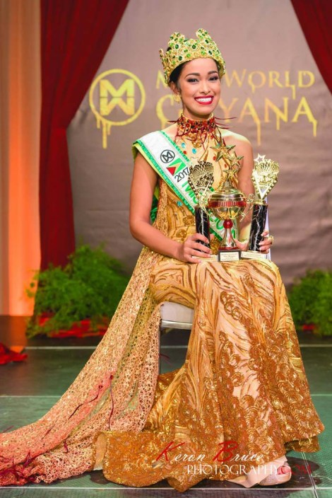 Vena Mookram crowned Miss World Guyana 2017!